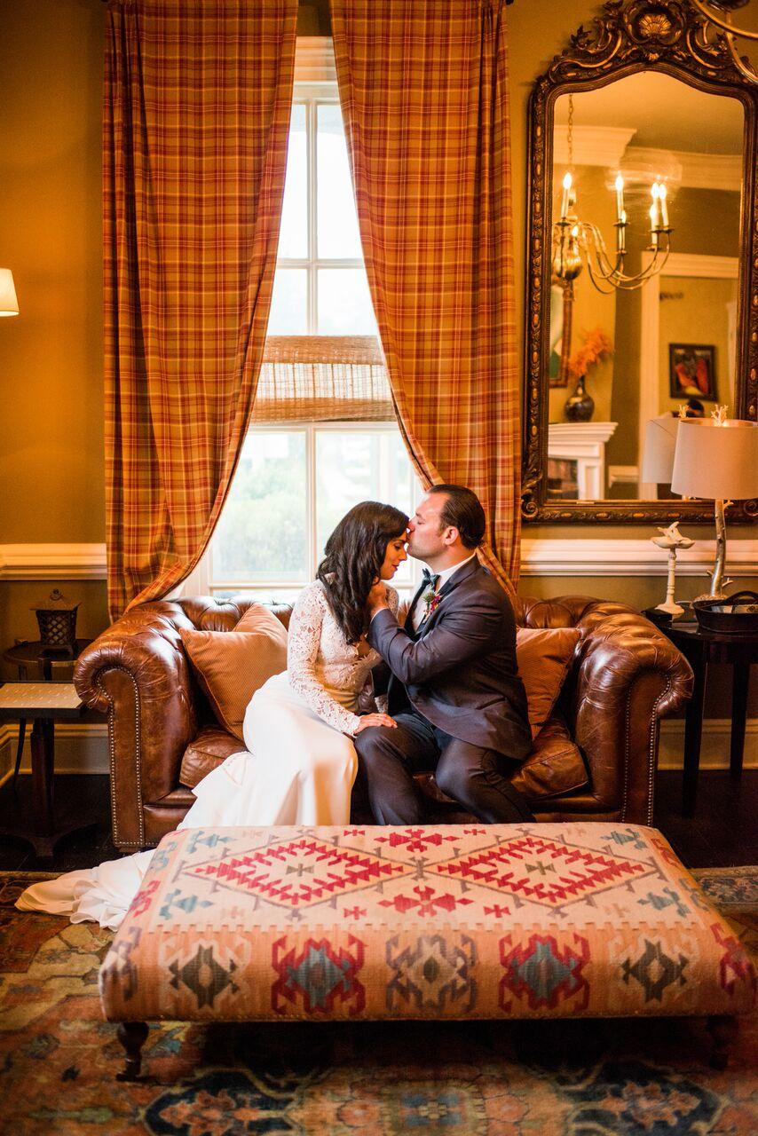 Romantic Jedidiah Hawkins Inn Wedding Kaitlyn Ferris New York First Look