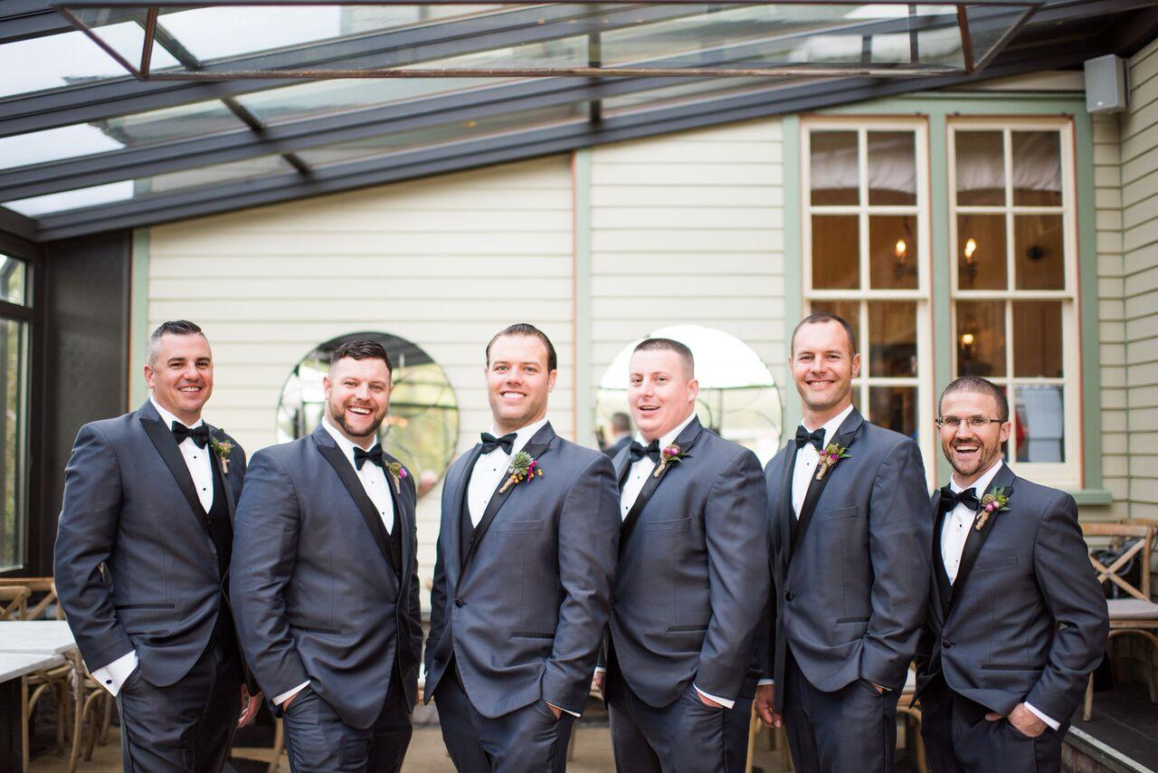 Intimate Jedidiah Hawkins Inn Wedding Kaitlyn Ferris New York Groomsmen