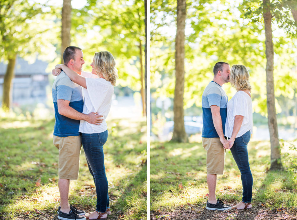 couple in front of greenery Kaitlyn Ferris engaged