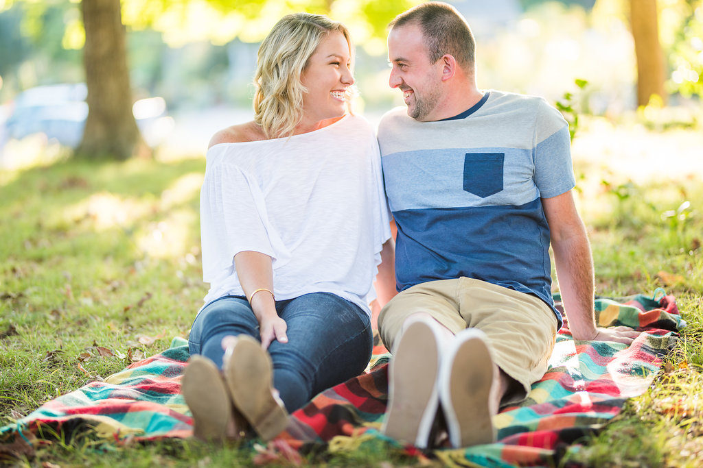 couple on a blanket Kaitlyn Ferris engaged
