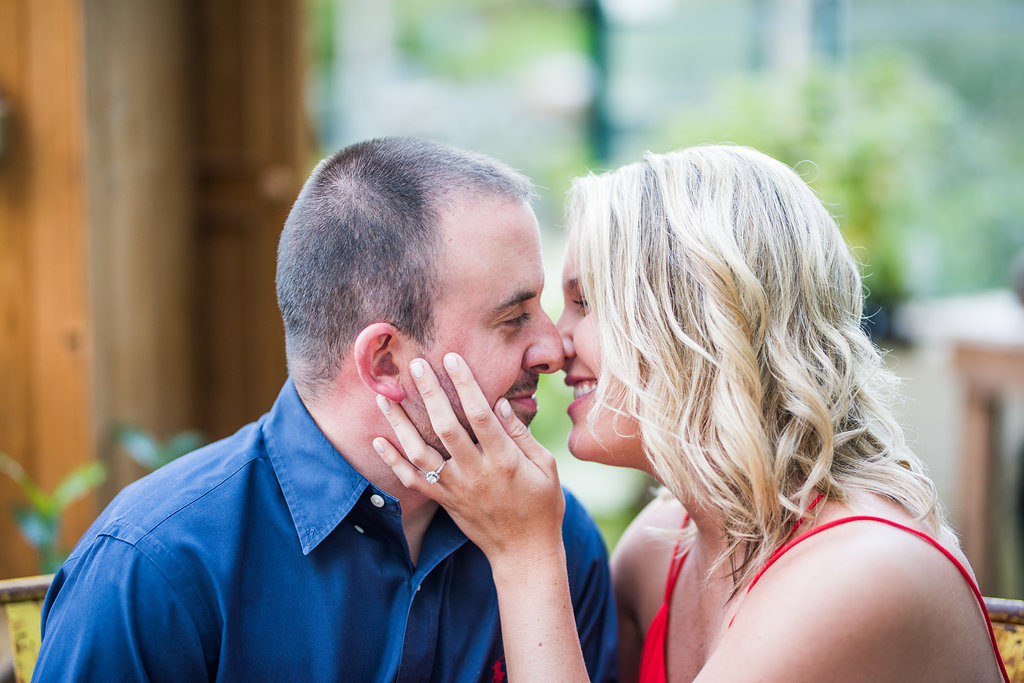 couple holding each other Kaitlyn Ferris engaged