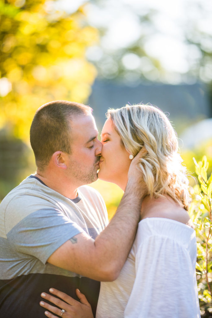 kissing in the greenery Kaitlyn Ferris engaged