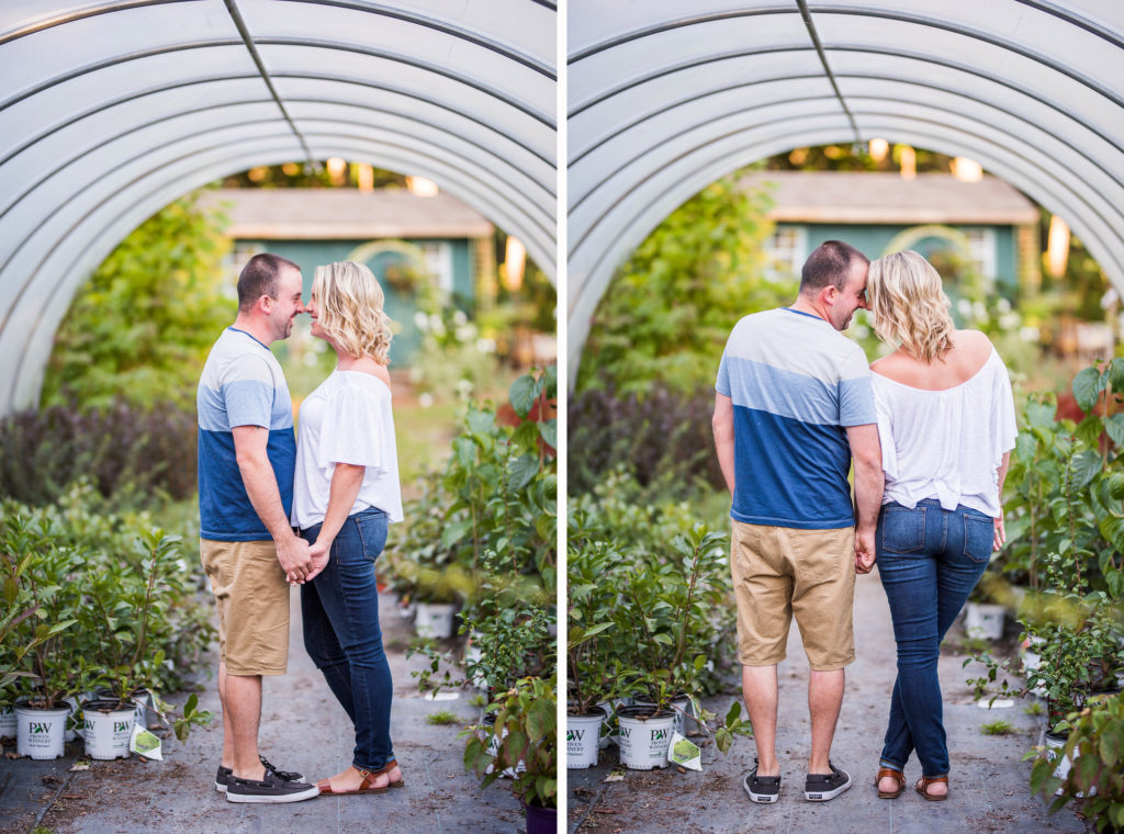 couple in greenhouse Kaitlyn Ferris engaged