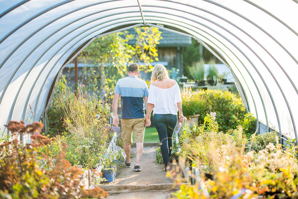 walking through the greenhouse Kaitlyn Ferris engaged