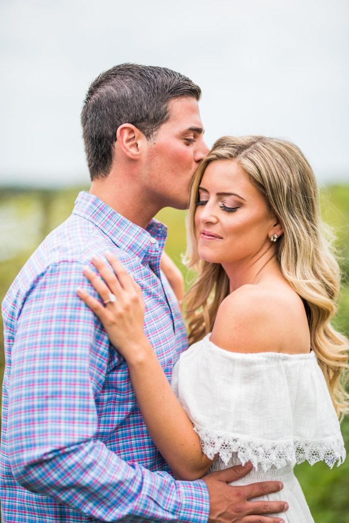 kiss romantic engagement