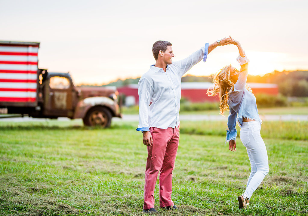 sunset romantic engagement