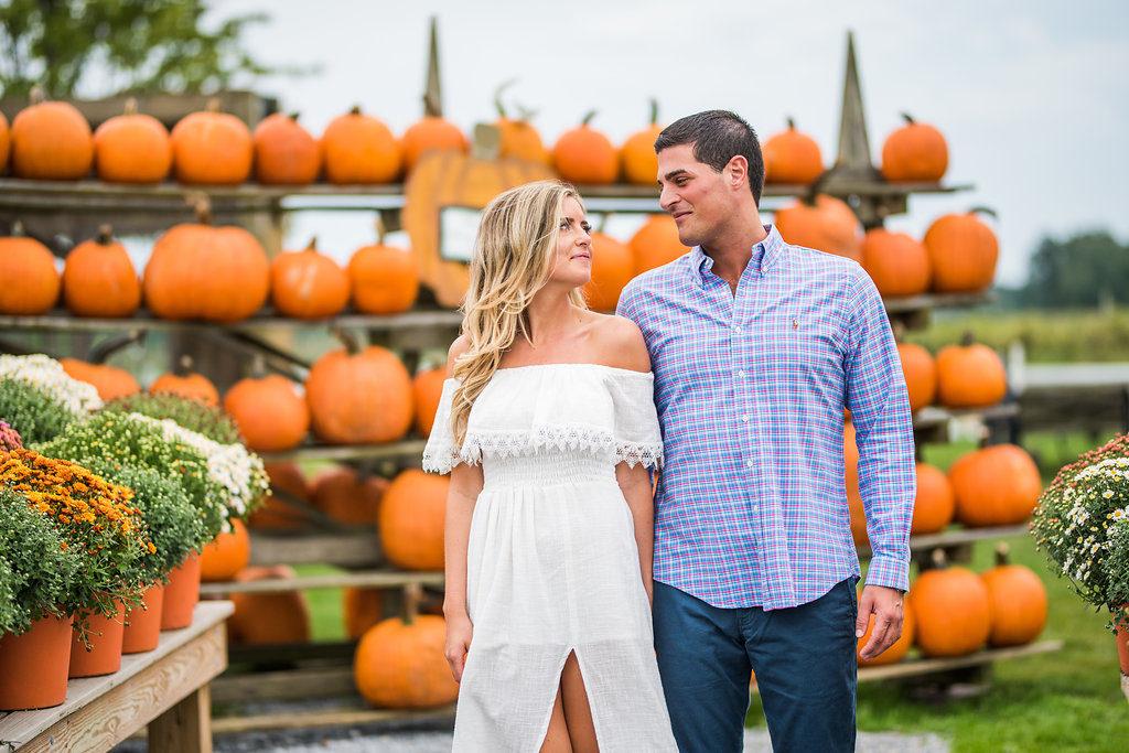 pumpkins romantic engagement two people