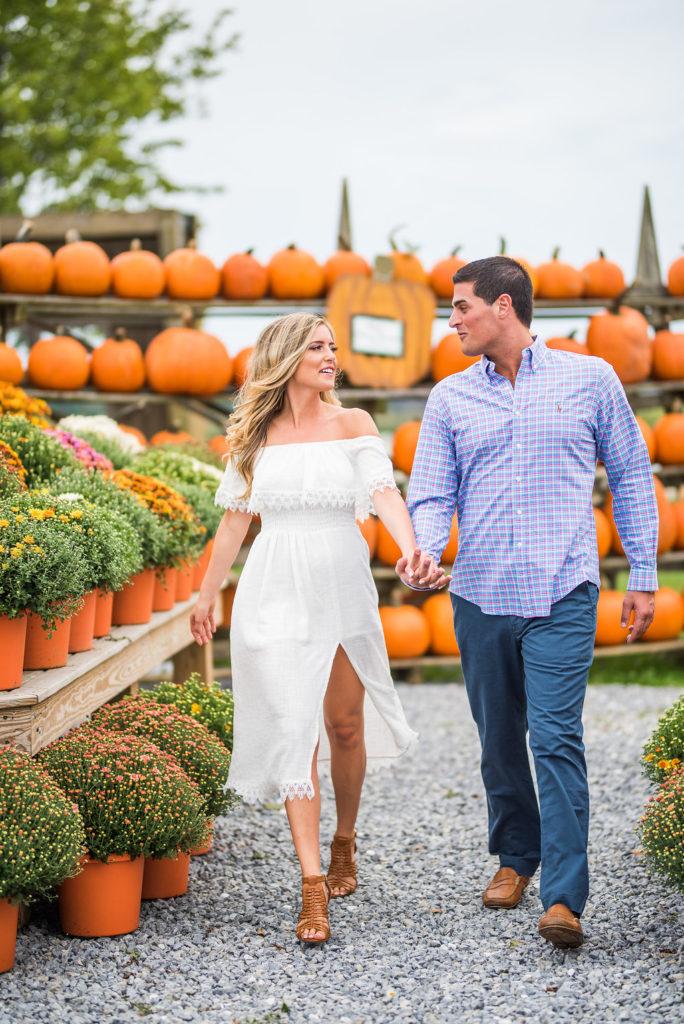 pumpkins two people romantic engagement