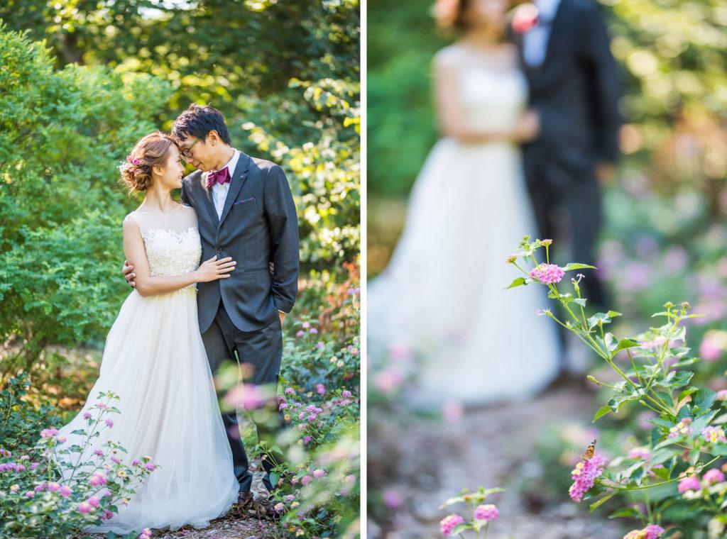 bride and groom portraits Kaitlyn Ferris photography garden wedding
