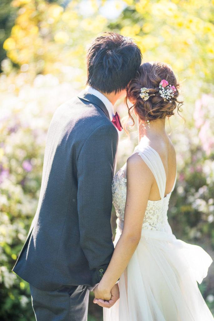 couple details of their backs Kaitlyn Ferris photography garden wedding