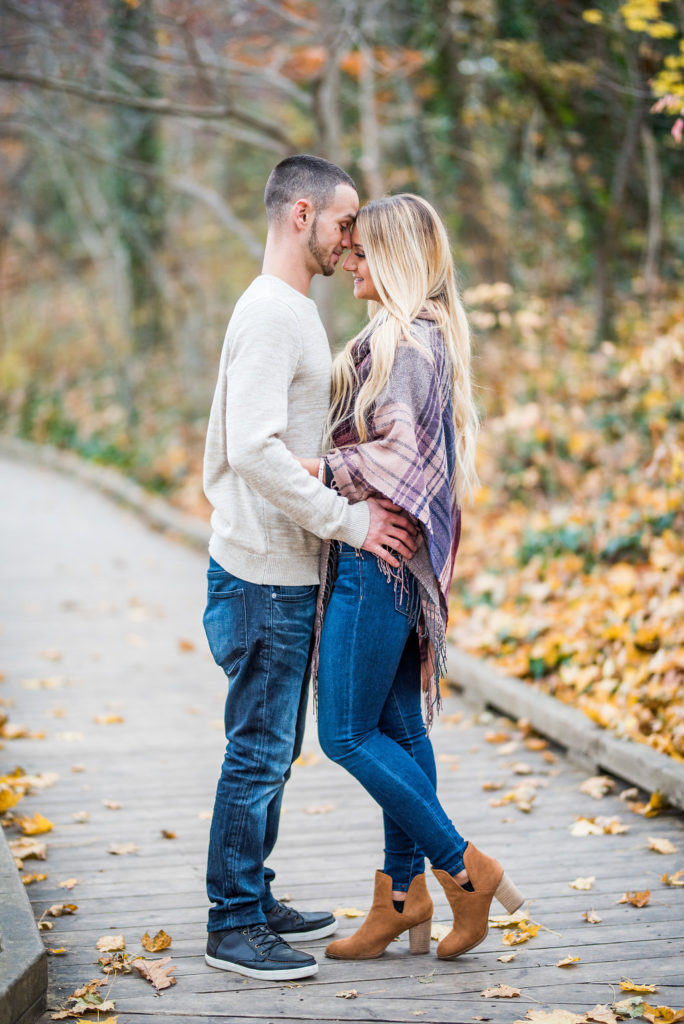 Fall Foliage Engagement Session Kaitlyn Ferris Photography Long Island Wedding and Engagement Photographer