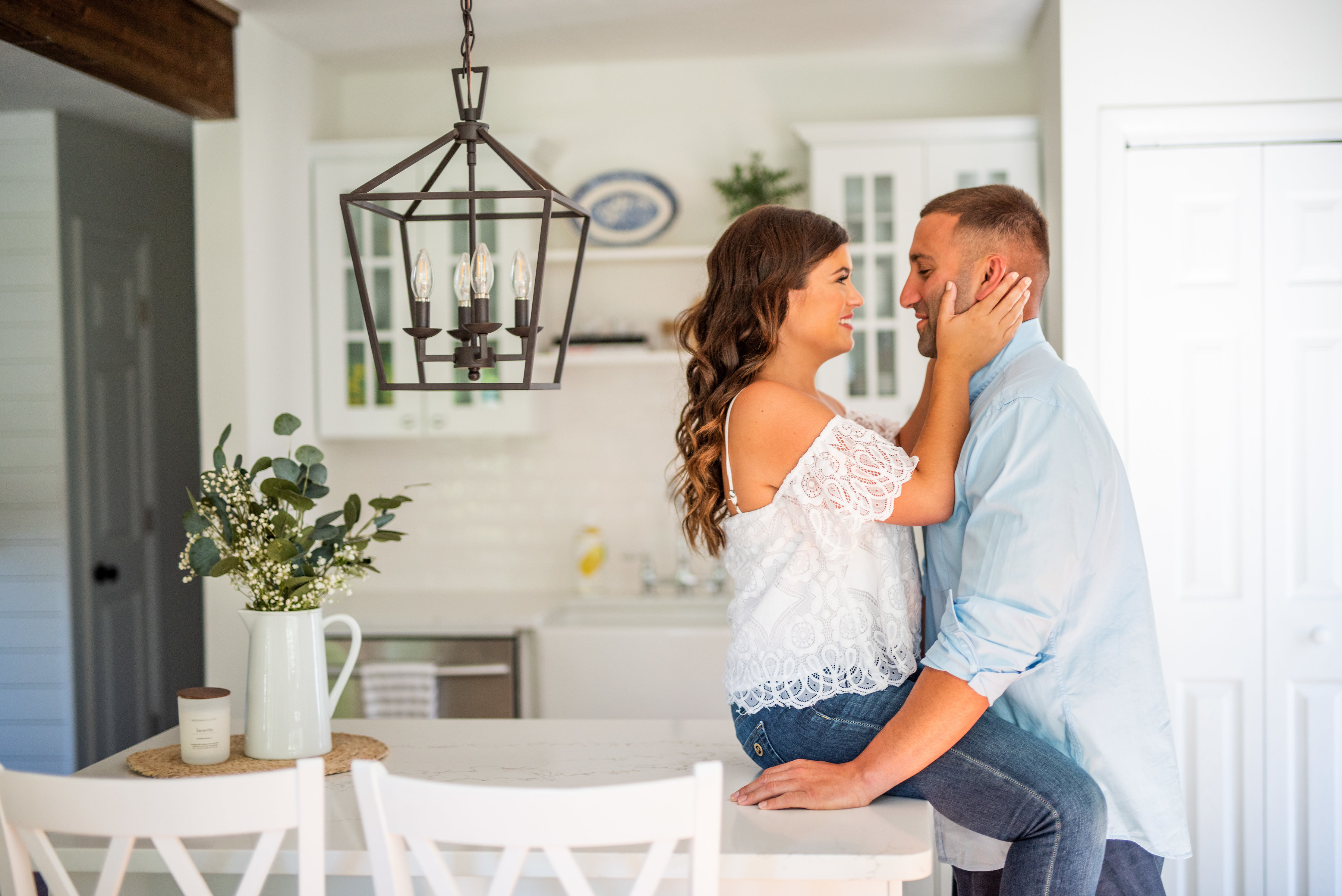 Calverton Engagement Shoot | Engagement Shoot at Home | Rustic Farrm Kitchen Engagement Shoot | North Forrk Wedding Photographer12