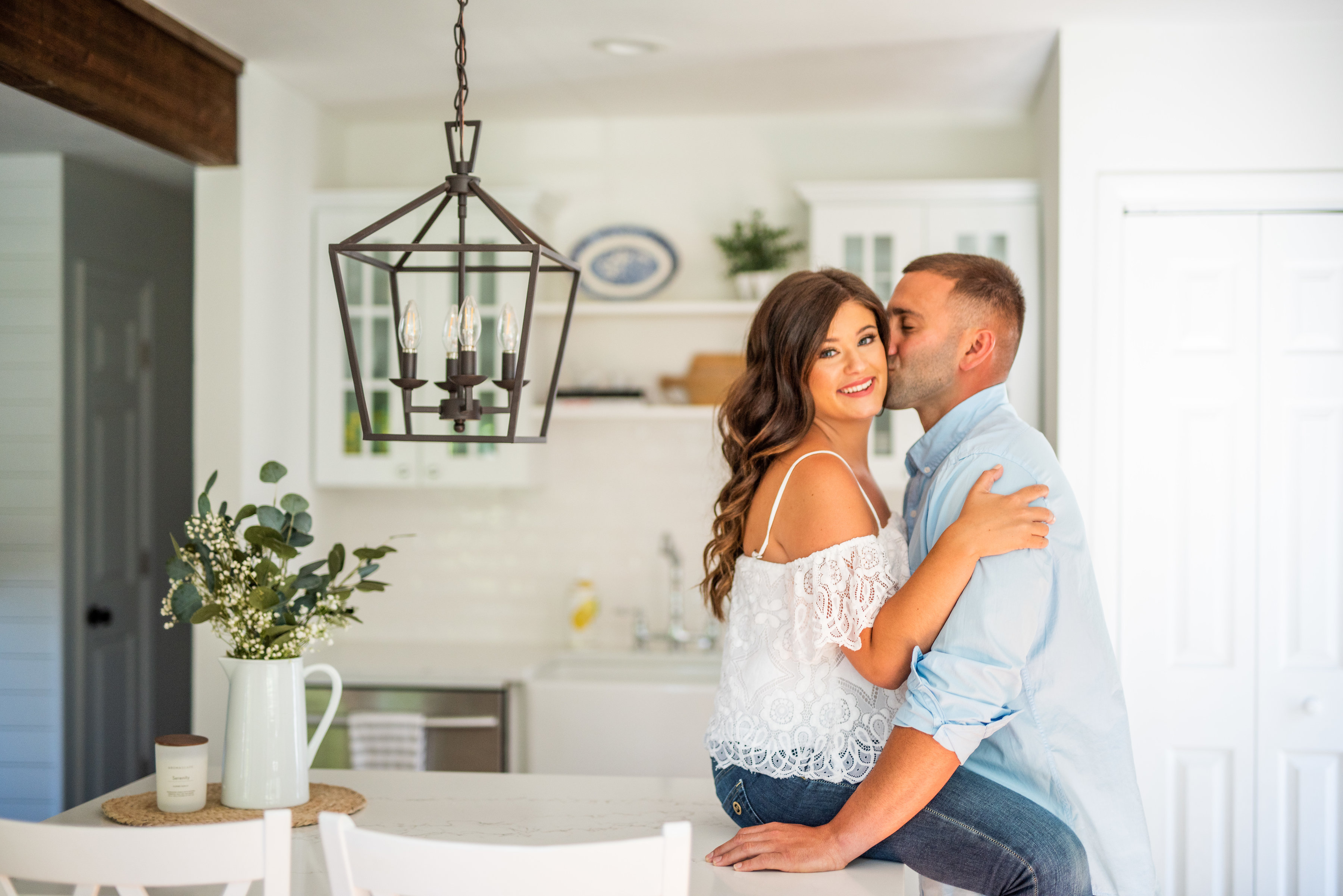 Calverton Engagement Shoot | Engagement Shoot at Home | Rustic Farrm Kitchen Engagement Shoot | North Forrk Wedding Photographer13