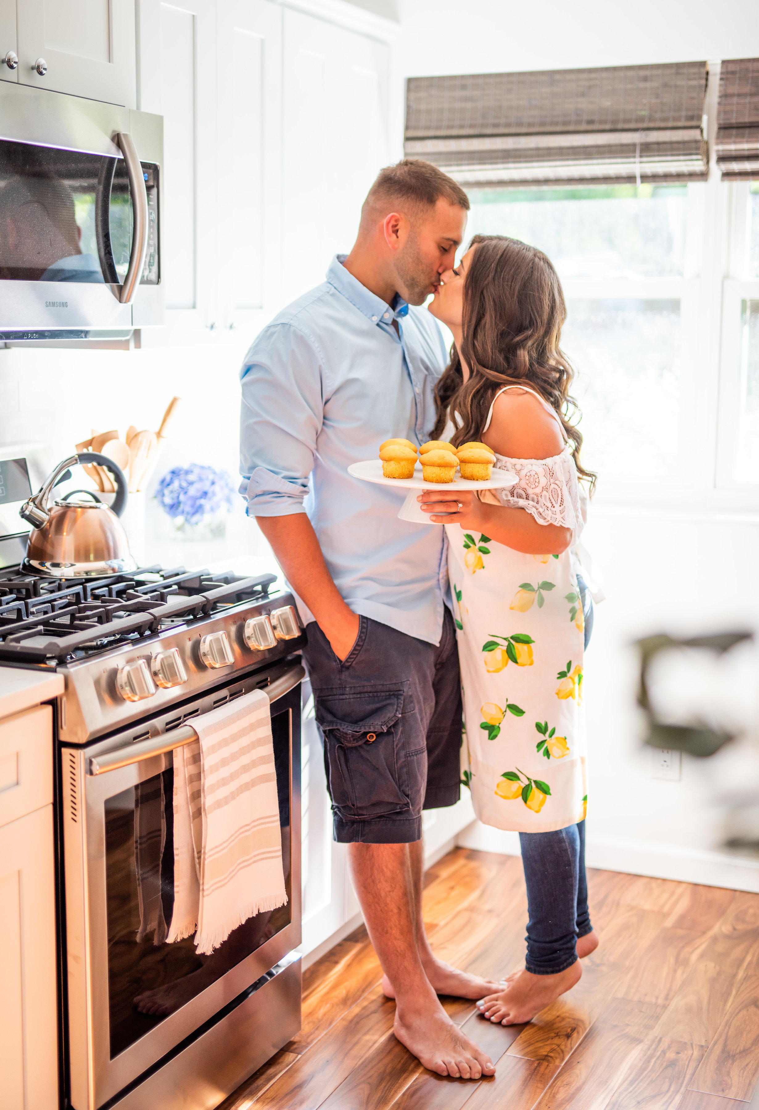 Calverton Engagement Shoot | Engagement Shoot at Home | Rustic Farrm Kitchen Engagement Shoot | North Forrk Wedding Photographer15