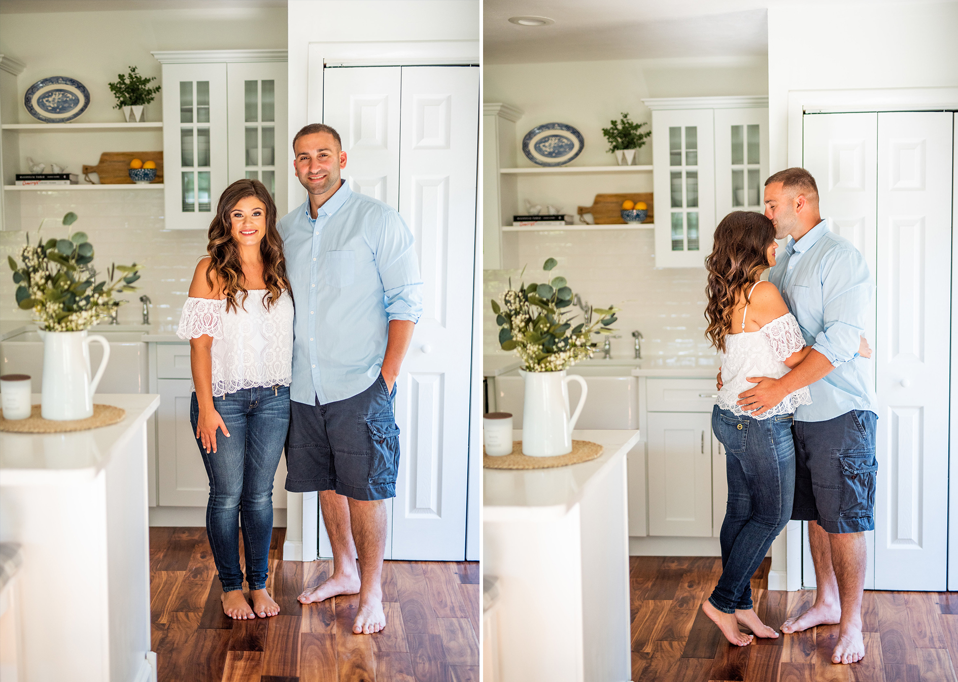 Calverton Engagement Shoot | Engagement Shoot at Home | Rustic Farrm Kitchen Engagement Shoot | North Forrk Wedding Photographer2