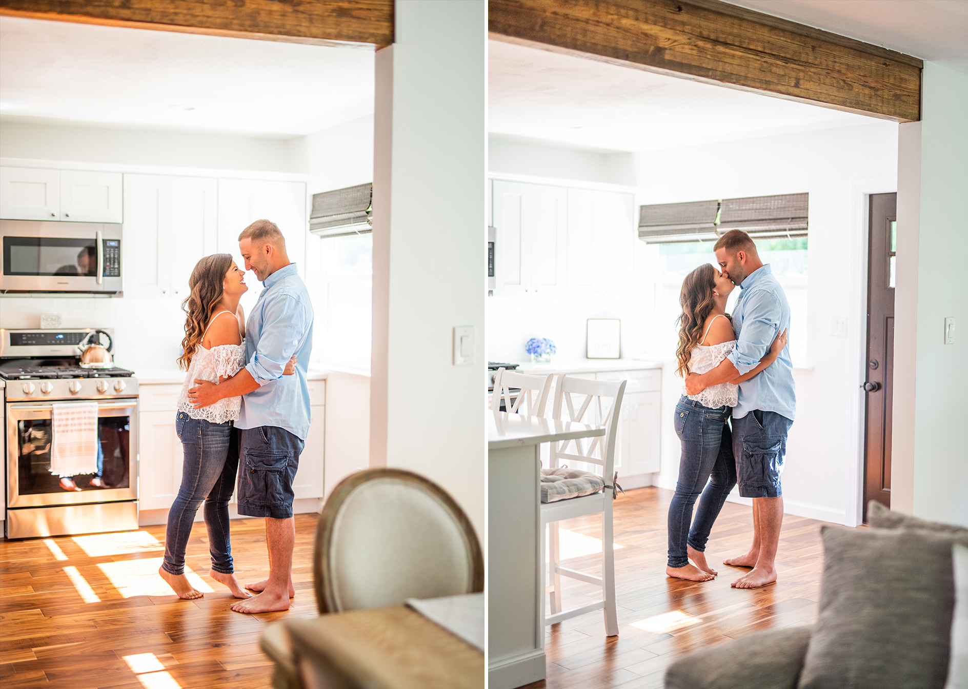 Calverton Engagement Shoot | Engagement Shoot at Home | Rustic Farrm Kitchen Engagement Shoot | North Forrk Wedding Photographer3