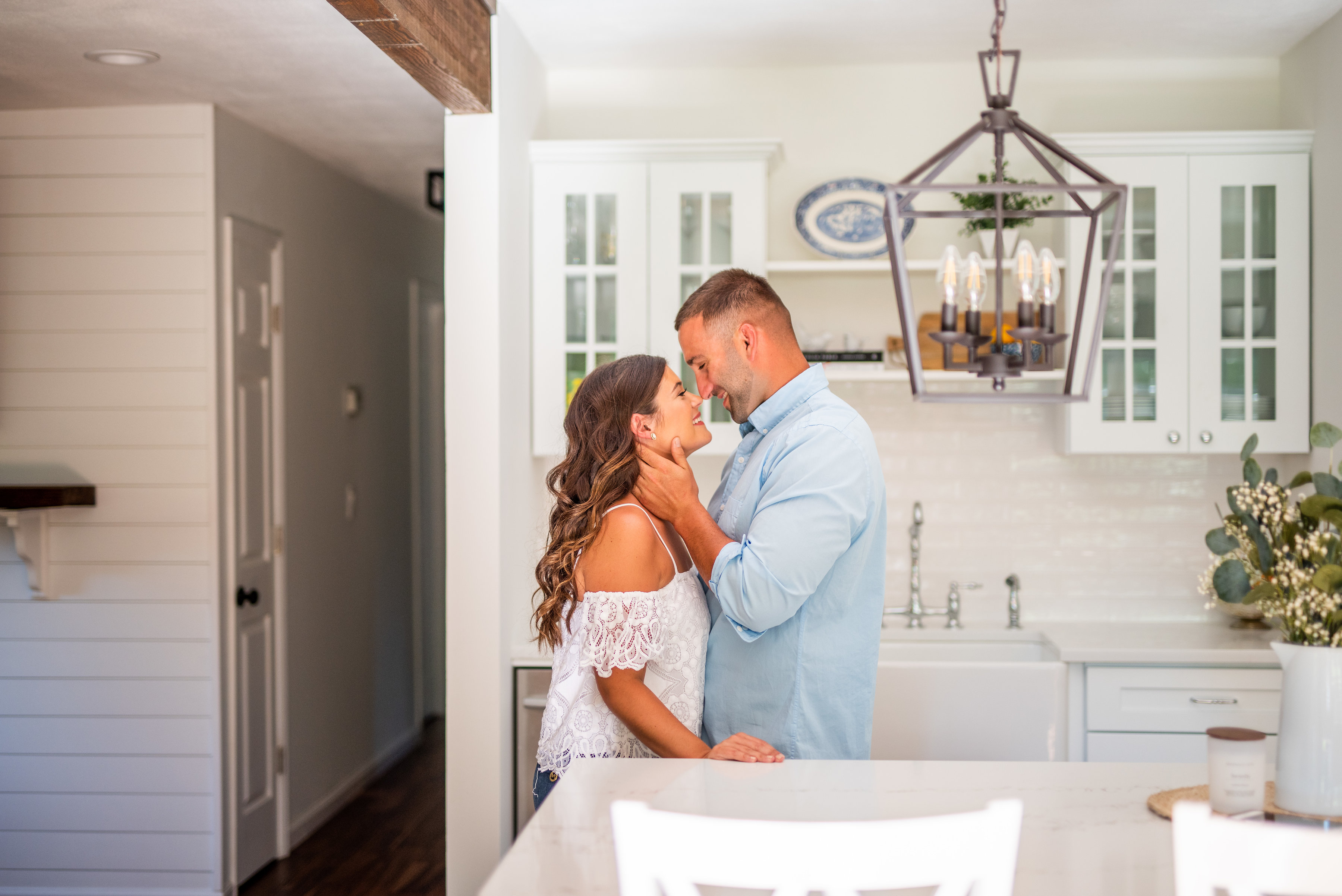 Calverton Engagement Shoot | Engagement Shoot at Home | Rustic Farrm Kitchen Engagement Shoot | North Forrk Wedding Photographer8