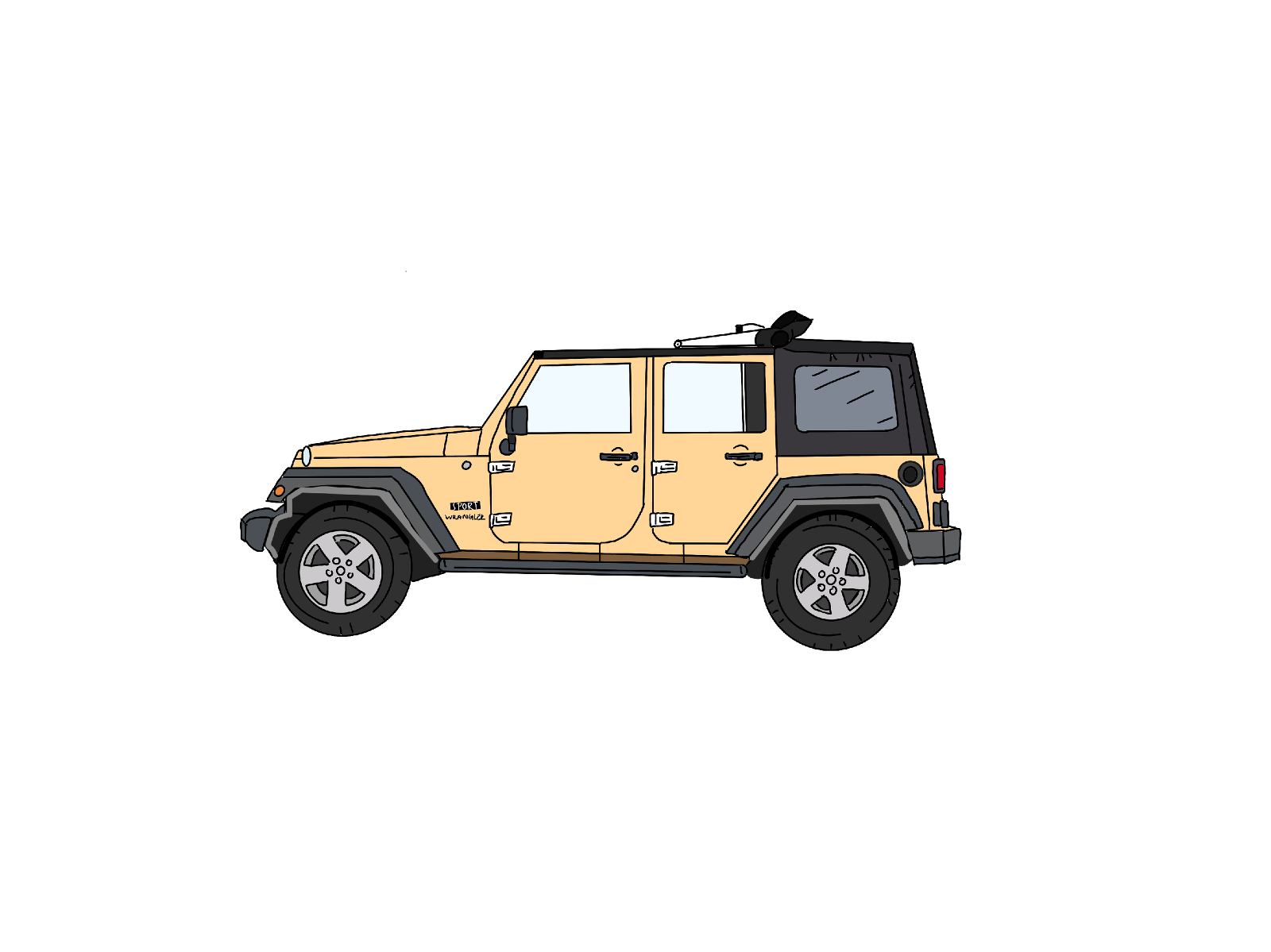 Jeep Waver Illustration for Kaitlyn Ferris Wedding Photography - Things I love