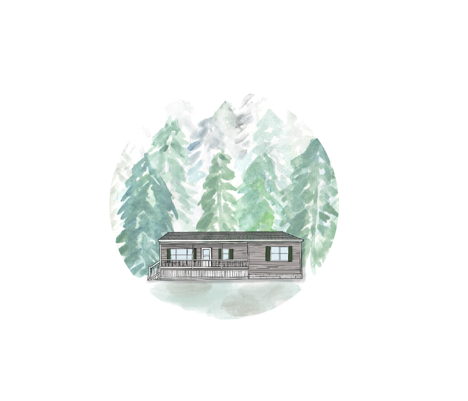 The Little Pine Illustration for Kaitlyn Ferris Wedding Photography - Things I love